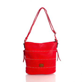 Τσάντα χιαστί με διάτρητα σχέδια– Κόκκινο 567903