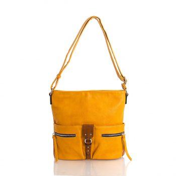 Τσάντα χιαστί – Κίτρινο 101704