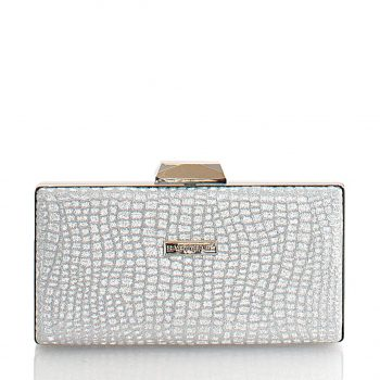 Τσάντα φάκελος clutch – Ασημί CK103010