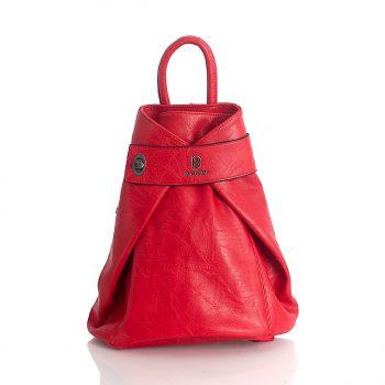 Σακίδιο πλάτης με περίτεχνο κούμπωμα - Κόκκινο 816203