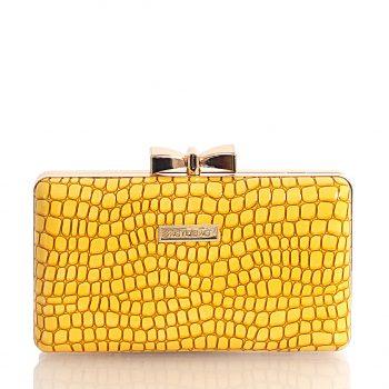 Τσάντα clutch croco BagtoBag– Κίτρινο JH949404