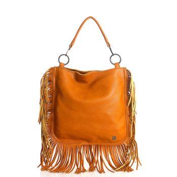 Τσάντα ώμου BagtoBag με κρόσσια – Κάμελ SP2008102