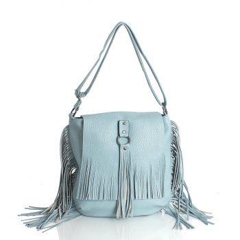 Τσάντα ώμου BagtoBag με κρόσσια– Γαλάζιο SP2004515