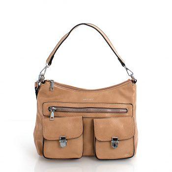 Τσάντα ώμου χιαστί – Apricot LS57819