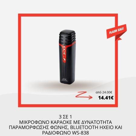 Μικρόφωνο Karaoke – WS-838 – 868380