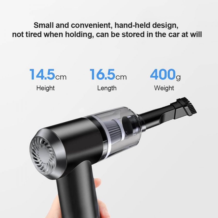 Oman.ourshopee.com 2 in 1 Wireless Car Vacuum Cleaner