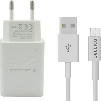 Jellico USB-A / USB-C Cable & Wall Adapter Λευκό (AK210)