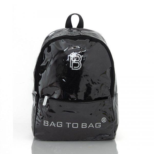 Τσάντα πλάτης LOGO - Μαύρο DD-601010