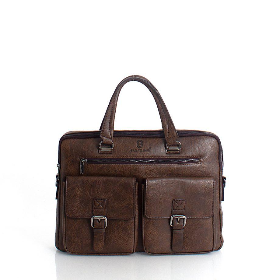 Τσάντα χιαστί χειρός business BagtoBag– Καφέ MD-800609
