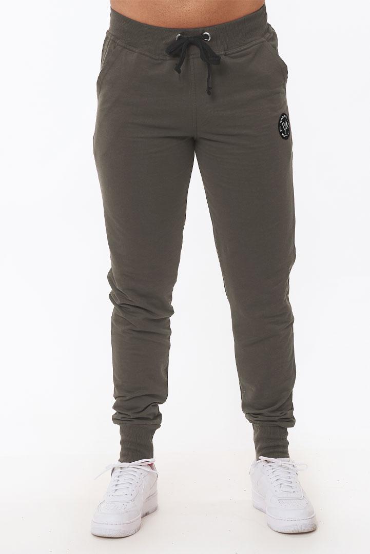 Παντελόνι φούτερ με RIB μανσέτες και τσέπες ξέφτια #1227  1227-3