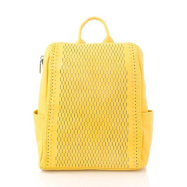 Σακίδιο πλάτης με διάτρητα σχέδια - Κίτρινο 561704 Χρώμα: Κίτρινο