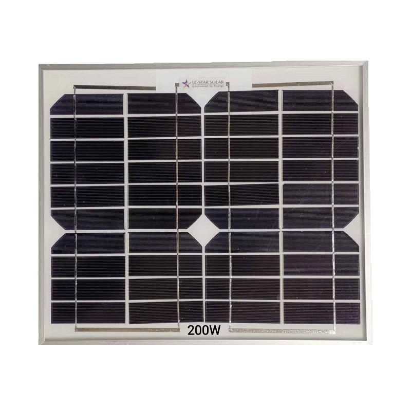 Μονοκρυσταλλικό ηλιακό πάνελ - Solar Panel - 200W - 602265