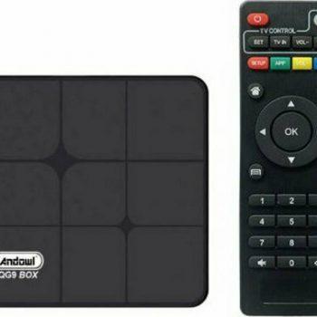 Andowl TV Box QG9 4K UHD με WiFi USB 2.0 4GB RAM και 64GB Αποθηκευτικό Χώρο με Λειτουργικό Android 10.0