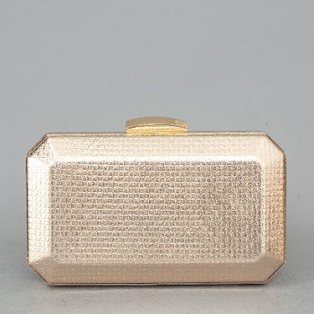 YX-900621 Τσαντάκι clutch gem – Σαμπανιζέ Χρώμα: ΣΑΜΠΑΝΙΖΕ