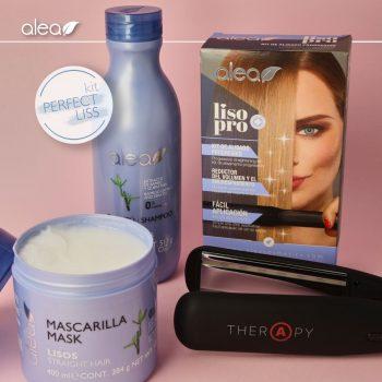 ALEA THERAPY HAIR IRON & ALEA LISO PRO STRAIGHTENING KIT & ALEA STRAIGHT HAIR SHAMPOO 500ML & ALEA STRAIGHT HAIR MASK 400ML