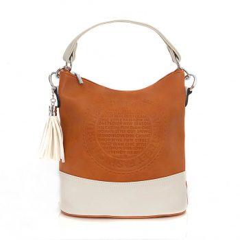 Τσάντα ώμου με ανάγλυφο σχέδιο – Κάμελ SH800202 Χρώμα: ΚΑΜΕΛ