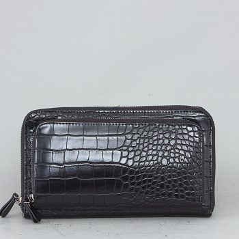 LS1801 Τσαντάκι πορτοφόλι χιαστί – Μαύρο Χρώμα: ΜΑΥΡΟ