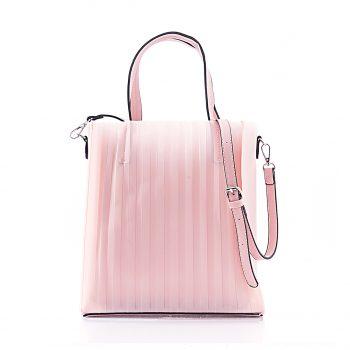 Τσάντα ώμου – χειρός με διαφάνεια – Ροζ 5506605 Χρώμα: ΡΟΖ